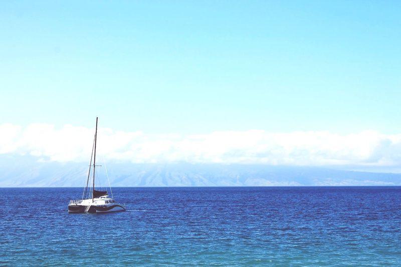 Hawaii Maui Catamaran Sailing Ocean