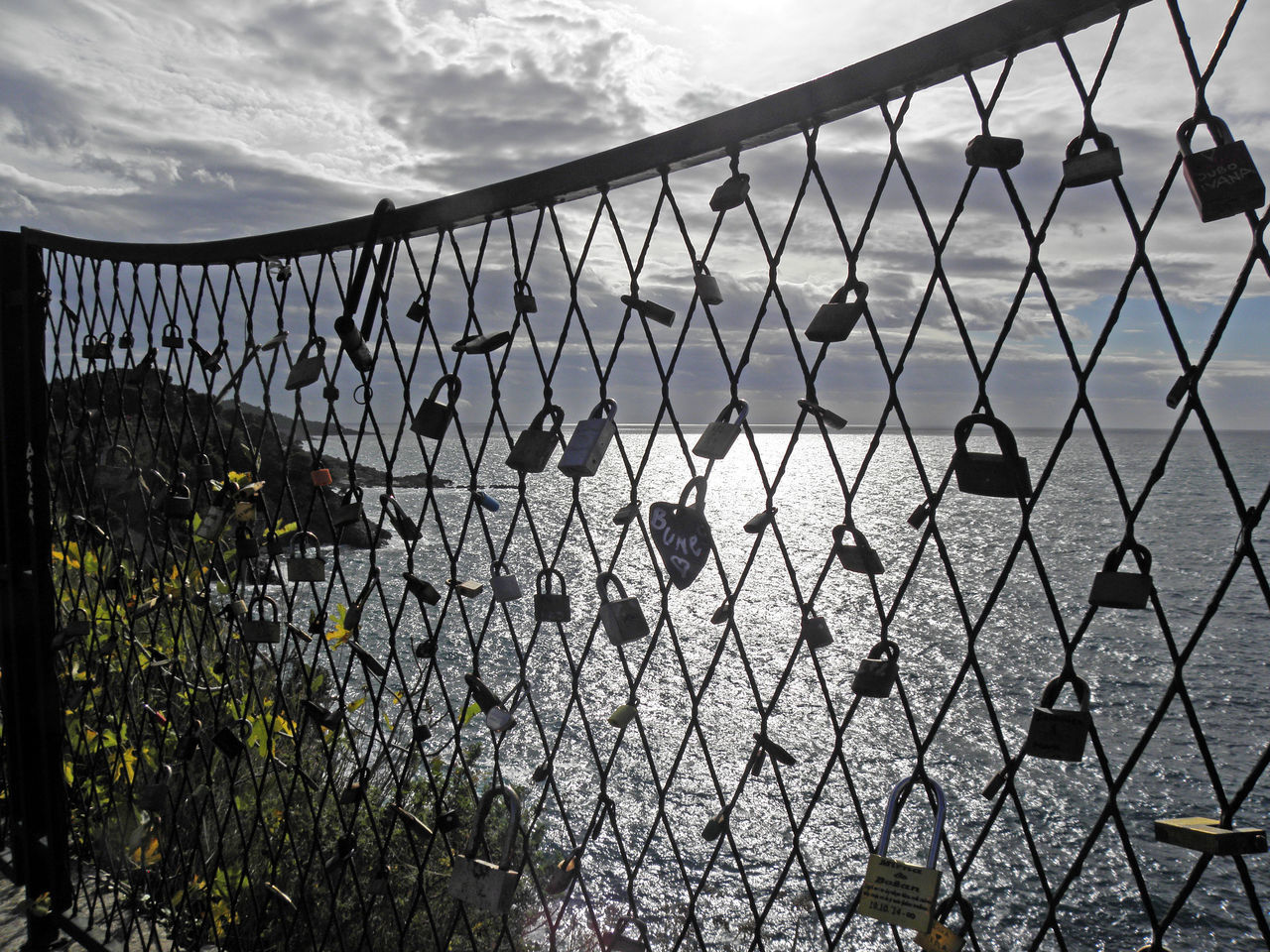 chainlink fence, metal, safety, protection, security, day, no people, outdoors, sky, close-up, architecture, nature, water, prison