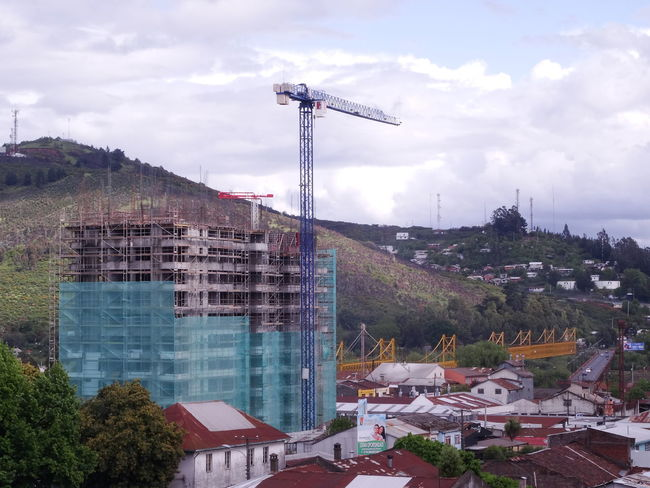 [•] gentrification_ Building Grua Construction Construction Site City Cityscape Cityscapes Citylife City View  Temuco