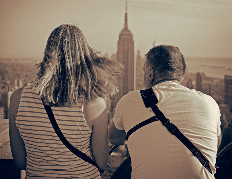 Enjoyingtheview Two People Rear View Architecture Built Structure Adults Only Adult People Day Building Exterior Togetherness Real People Outdoors Sky Young Adult Newyork Newyorkphotography Topoftherock Tower Downtown District Travel City Life Newyorkcitylife Newyorkcityphotographer Skyscraper