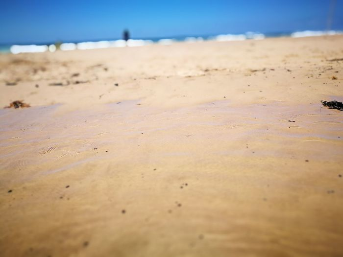Beach Sand Day Nature Sea Outdoors Sand Dune Close-up Water No People Sky Blue Wave Taking Photos Water Reflections Water