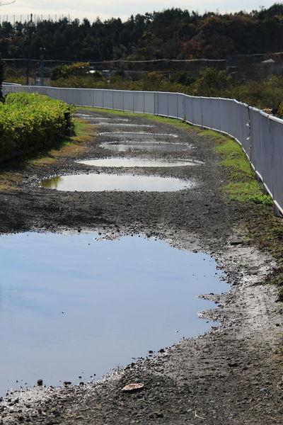 Japan Japanese Load Water Puddle Gravel Road Gravel