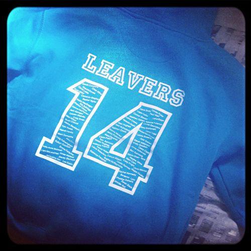 Leavers Hoodie Leavers 2014