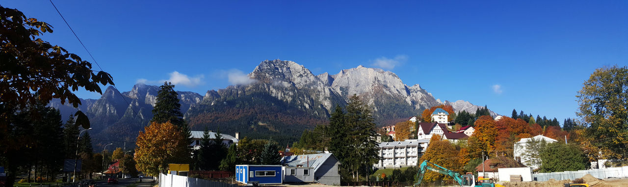 Amazing View Autumn Busteni Cabins  Cold Temperature Landscape Mountains Panoramic Photography Season