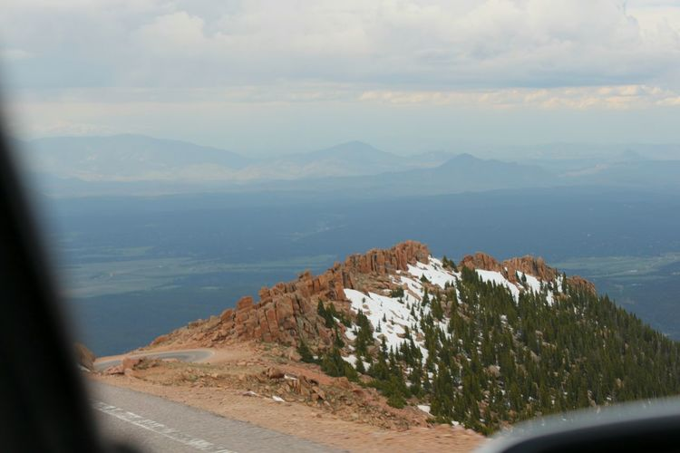 Aerial Shot Pikes Peak Colorado 14er Outthecarwindow