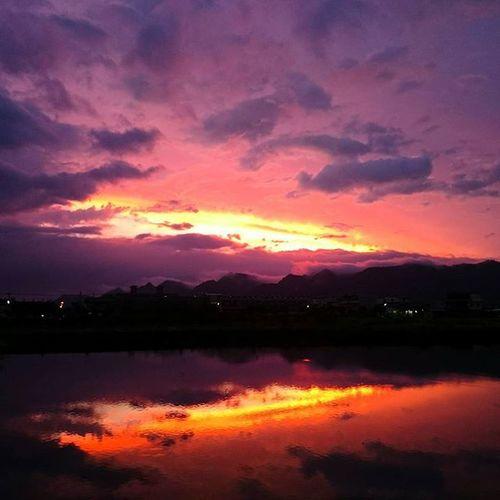 20150706 火燒雲。 颱風拜託你別肆虐臺灣