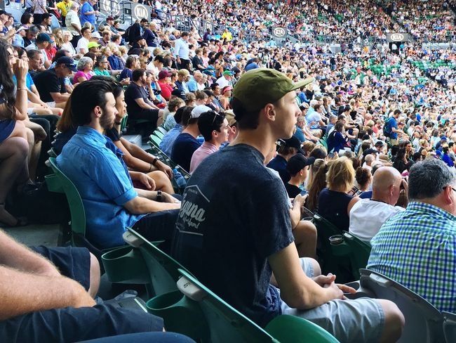 Large Group Of People Crowd Audience Watching Fan - Enthusiast Men Sport Cheering Stadium Sports Event  Togetherness Sitting Spectator