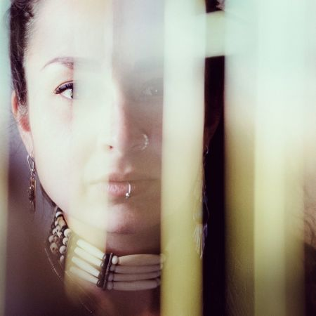 2/3 blurred thoughts Young Adult One Person Window Young Women Curtain Beautiful Woman Indoors  Close-up Human Face Beauty One Young Woman Only Day People Featuremeinstagood Colours Female Model Blurred Motion Pursuitofportraits Teamfuji