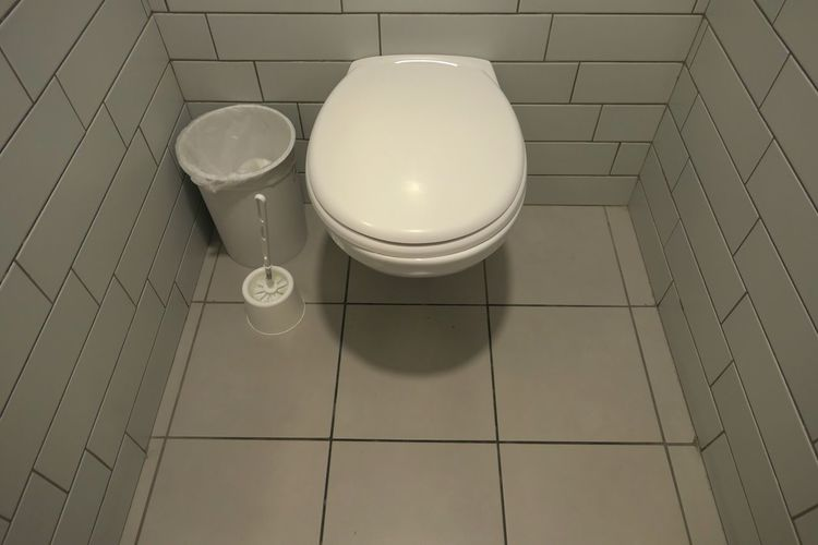 High Angle View Indoors  No People Flooring Bathroom Domestic Room Pattern Hygiene Toilet Still Life Shadow Domestic Bathroom White Color Shape Toilet Bowl Household Equipment Home