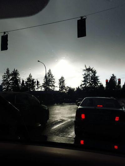 Heading home. Gigharbor Taillights Dusk Dusk In The City Breaklights Oneeyeopen Stoplight Redlight Stop