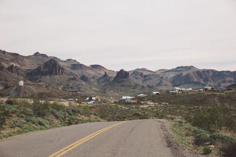 Arizona Road Route 66 Tourist Attraction  Arid Climate Arid Landscape Roadtrip Route66 Tourist Destination