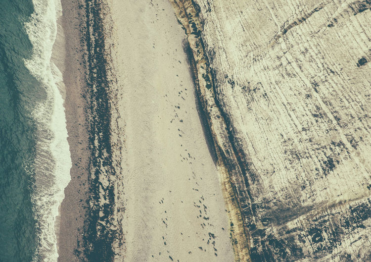 Beach Beachphotography Cliff Cold Day Geology Geometry Outdoors Rough Sand Sea Seaside Surface Level Textured  View From Above Wall Wave White Cliffs  The Great Outdoors - 2016 EyeEm Awards The Great Outdoors With Adobe A Bird's Eye View Perspectives On Nature