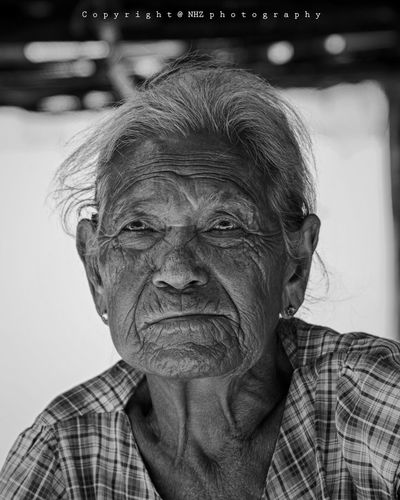 Beauty Myanmar Blackandwhite Black & White Old Old Person Sitting 50 Ways Of Seeing: Gratitude EyeEm Selects This Is Natural Beauty Portrait Human Face Headshot Looking At Camera Senior Adult Senior Men Front View Close-up