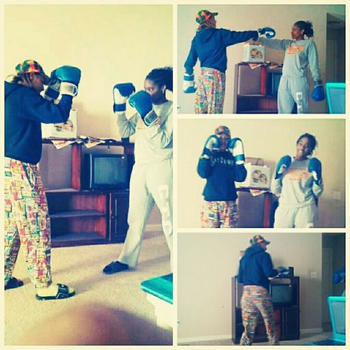 me and my nigga rosa messin round wit the gloves -make peace not war