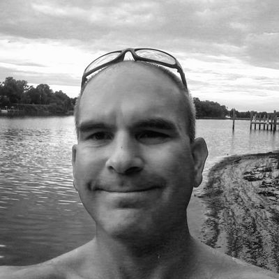 Just Me My Backyard Oasis On The Water Black & White No People Beach California MD USA