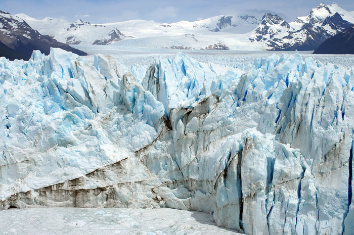 """In """"Los Glaciares"""" National Park lay the amazing Perito Moreno glacier which is the biggest one I have ever seen, and probably the most beautiful one too. It is part of the """"Campo de hielo"""" spread through Chile and Argentina El Calafate Perito Moreno Glacier Argentina Cold Glacial Glacier Global Warming Horizon Ice Landscape Nature No People Patagonia Snow Shades Of Winter The Great Outdoors - 2018 EyeEm Awards"""