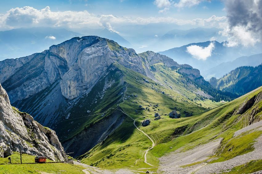 Mountain Landscape Tranquil Scene Road Grass Scenics Transportation Sky Mountain Range Beauty In Nature Tranquility Mountain Road Non-urban Scene Winding Road Country Road Majestic Travel Destinations Nature Cloud Cloud - Sky Pilatus Swiss Switzerland The Great Outdoors - 2017 EyeEm Awards