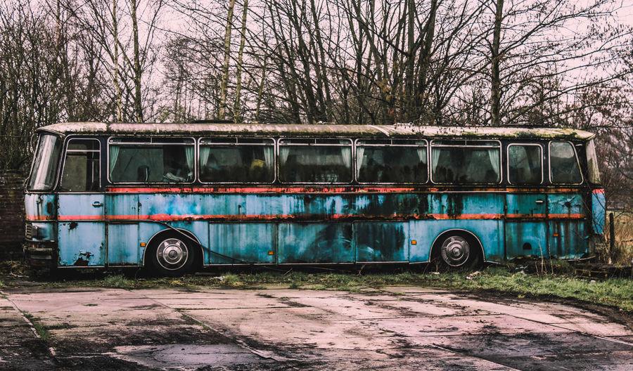 Decay Abandoned Bus Garage Holland Land Vehicle No People Outdoors Stationary Transportation Urbanexploration Urbex First Eyeem Photo