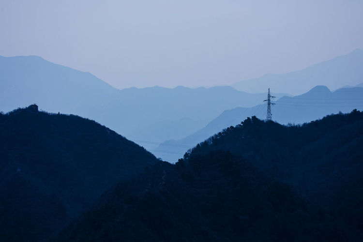 mountains Mountain Sky Power Lines Power Tower Farway No People