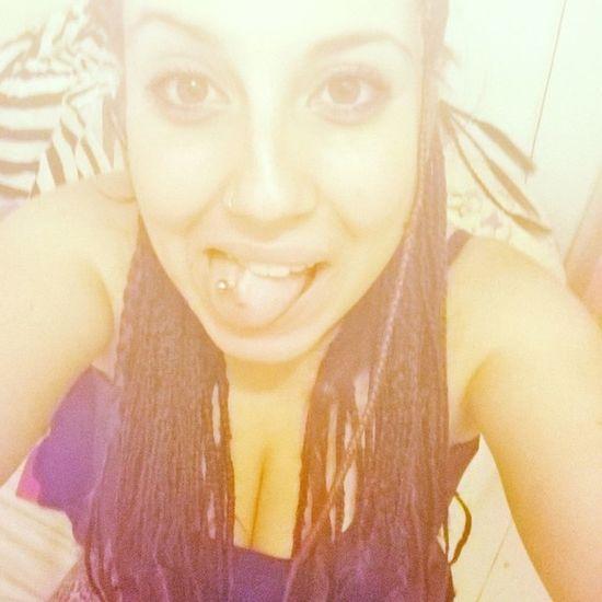 Selfie Piercing Lingua Treccine Giallo Luce Facciadasonno Stodiventantounabimbominchia Tuttacolpadelpiercing 👅