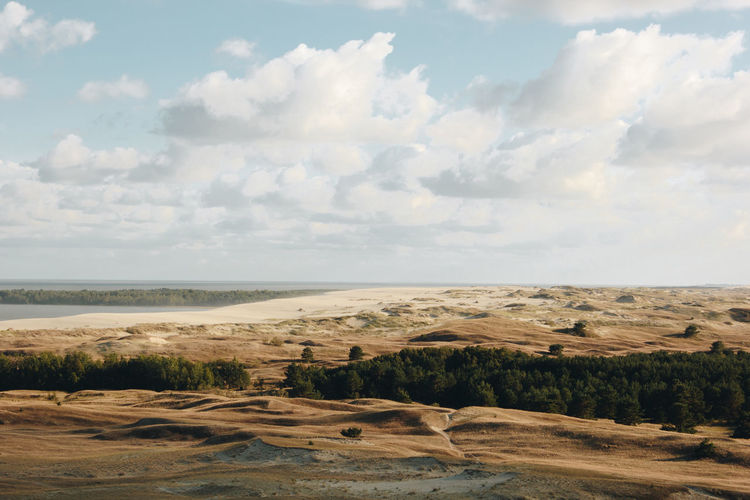 Curonian Spit Lietuva Lithuania Arid Climate Beauty In Nature Cloud - Sky Day Desert Environment Horizon Horizon Over Land Land Landscape Nature Nida No People Non-urban Scene Outdoors Remote Scenics - Nature Sea Sky Tranquil Scene Tranquility Water