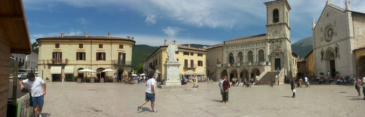Piazza San Benedetto a Norcia Italy Architecture Tourist Before Terremoto City Outdoors