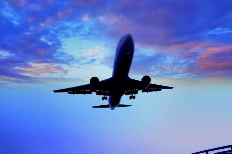 飛行機 伊丹空港千里川 千里川 伊丹空港 飛行機 Travel Sunset
