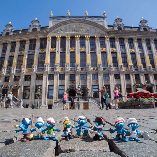 Bruxelles Smurfs Pirate Grand Place schtroumpfer à brussels