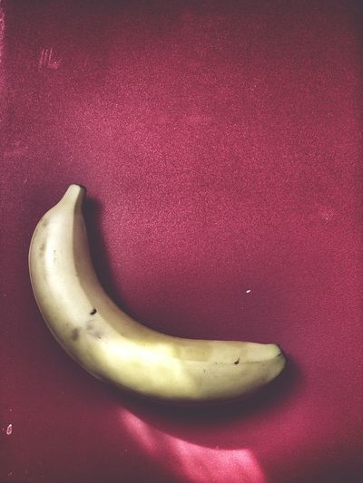 Banana Red Background Simple Composition Simplicity Minimalism Pastel Power Pastel Yellow My Favorite Breakfast Moment