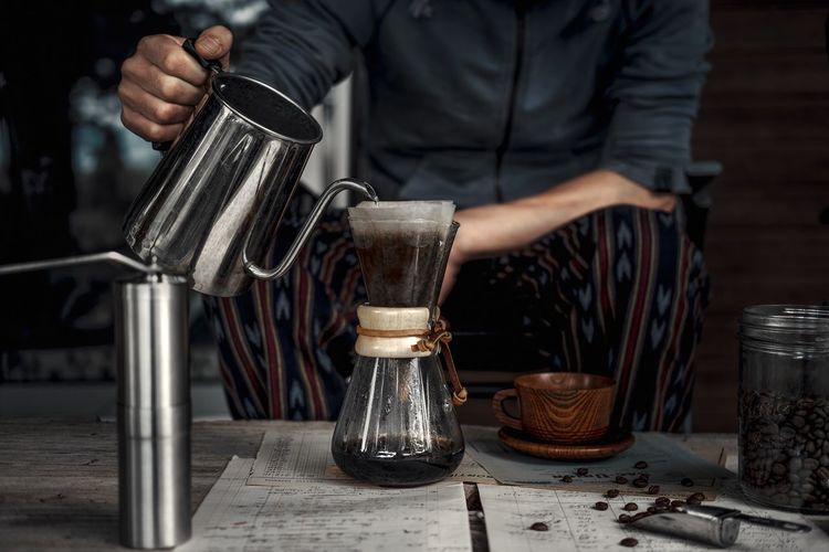 Still Life Morning Coffee Occupation Real People Pouring Drink Front View Glass A New Perspective On Life