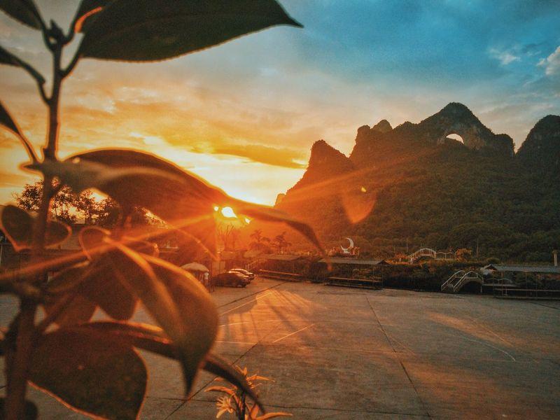 Yang Shuo Moon Hill Sunset