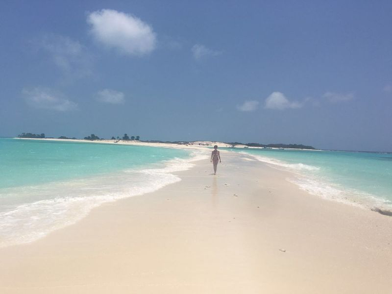 Beach Cayo De Agua Horizon Over Water Sea Tourism Tranquil Scene Vacations Venezuela