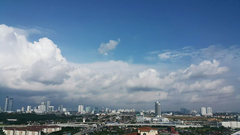 Cloud - Sky Cityscape City Urban Skyline Downtown District Sky Skyscraper Architecture Business Finance And Industry Modern City Life Travel Destinations Outdoors Building Exterior Day No People Business Nature Johor Bahru Malaysia