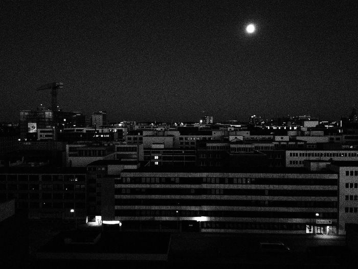 Rooftops Hamburg Blackandwhite