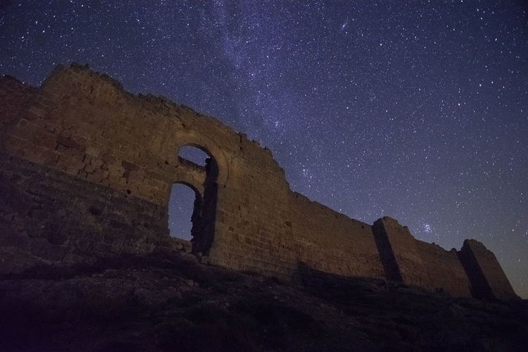 CASTILLO DE GORMAZ Fortaleza Califal De Gormaz SPAIN Soria Arch Architecture Astronomy Beauty In Nature Built Structure España Galaxy Gormaz Gormaz Castle Gormaz Fortress History Low Angle View Nature Night No People Old Ruin Scenics Star - Space Tranquility Travel Destinations The Great Outdoors - 2018 EyeEm Awards
