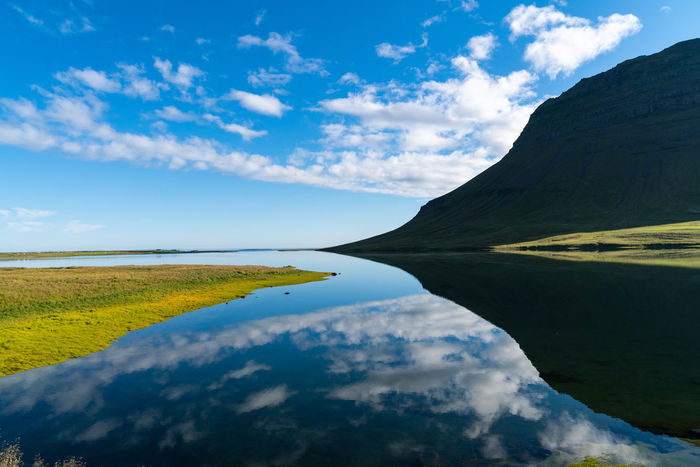 Backgrounds Beautifuliceland Beauty In Nature Blue Cloud - Sky Day Environment Idyllic Lake Landscape Mountain Nature Naturelovers No People Non-urban Scene Outdoors Plant Reflection Scenics - Nature Sky Tranquil Scene Tranquility Water