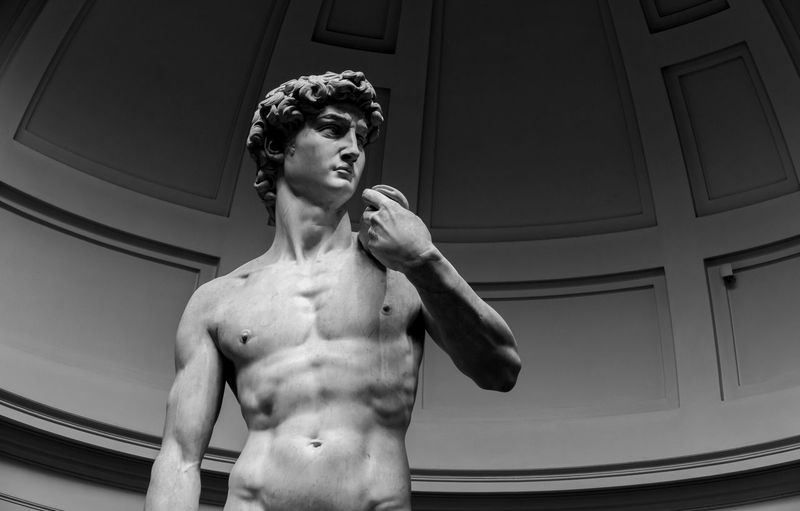 Galerie De Accademia Michelangelo Florence Italy Statue Of David