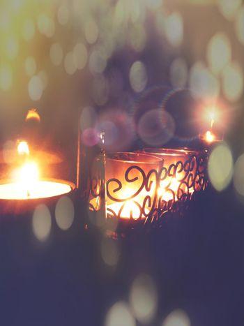 Bokeh Burning By Candlelight Candle Candle Light Candlelight Candles Close-up Decoration Flame Glowing Illuminated Light Lights Mobile Photography Mobilephoto Mobilephotography Night Romantic Shiny