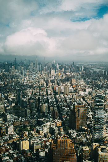 High Manhattan New York City Aerial Architecture Building City Cityscape High Angle View Outdoors Skyscraper Tall - High