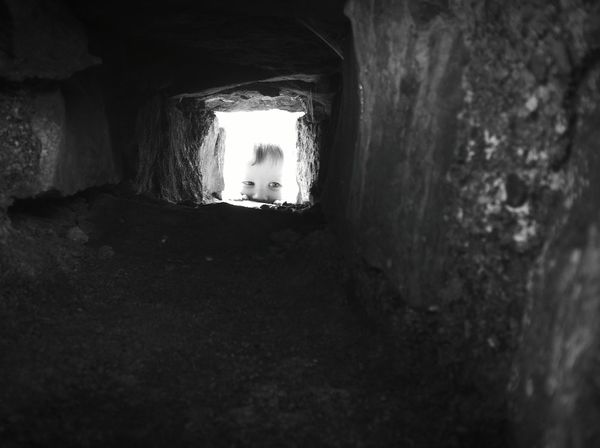My mind's eye Tunnel Built Structure Architecture Light At The End Of The Tunnel Day Child Childhood Children Photography Castle Castle Ruin Ruins Historic Wales Wales❤ Wales, UK Cymru