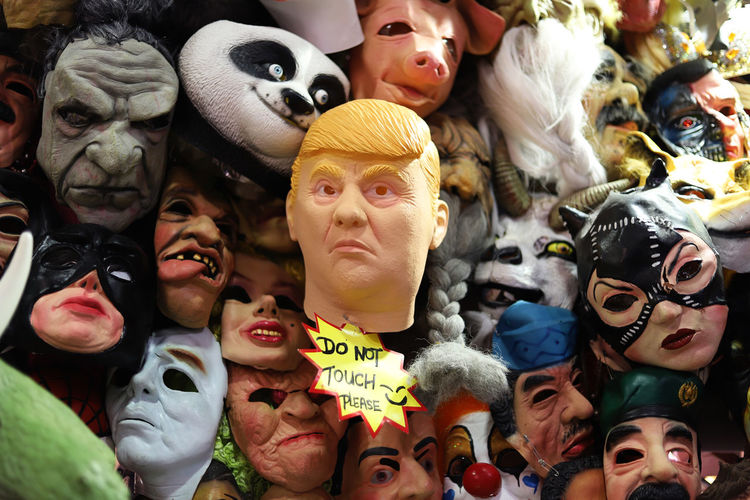 Halloween Mask Carnival Halloween Market Human Representation Mask Mask_collection Men Plastic Scary Face Women Do Not Touch Please Fake