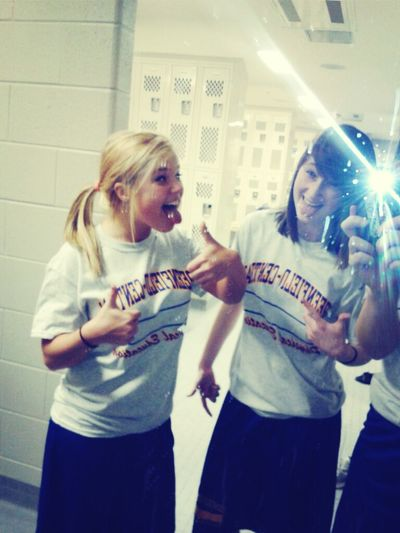 Me & Kayla in gym