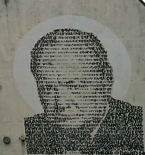 Portrait Legend Graffiti Art Creativity Different Styles Graffiti Art Winston Churchill Memorial Street Art Text Speech!