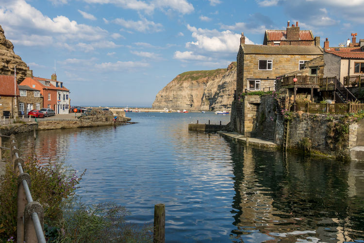 Staithes North Yorkshire Architecture Built Structure Water Building Exterior Building Sky Cloud - Sky Reflection City Residential District Nature Day No People Waterfront Old History House Travel Destinations Outdoors Canal