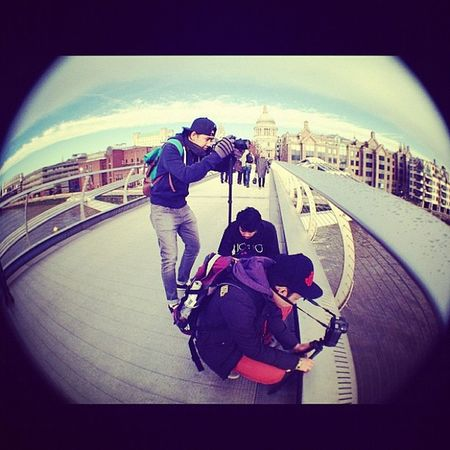 Stole again from fik. London Felda Luct Filmroll fisheye thamesriver