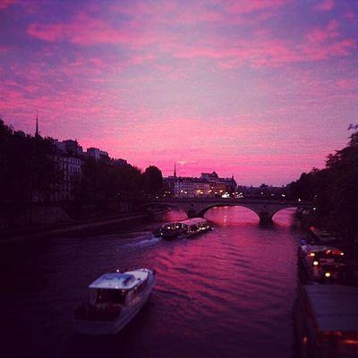 Paris Discover Your City Sunset Seine Pink