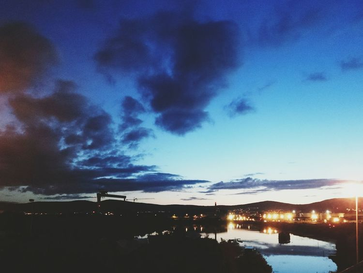 Another pretty evening 👌😊 Night Colors Night Time Is The Right Time Eyeem Northern Ireland Night Photography Northern Ireland Belfast Lough Sunset And Clouds  Sunset