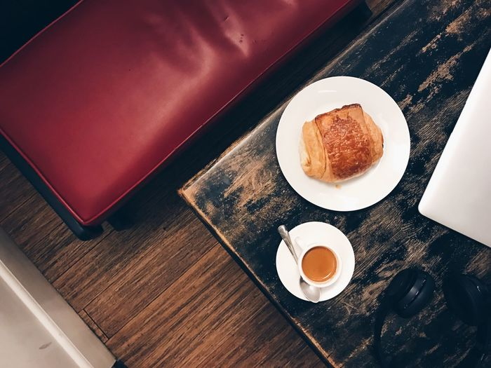 Food And Drink High Angle View Food Coffee Espresso Coffee Shop Pastry