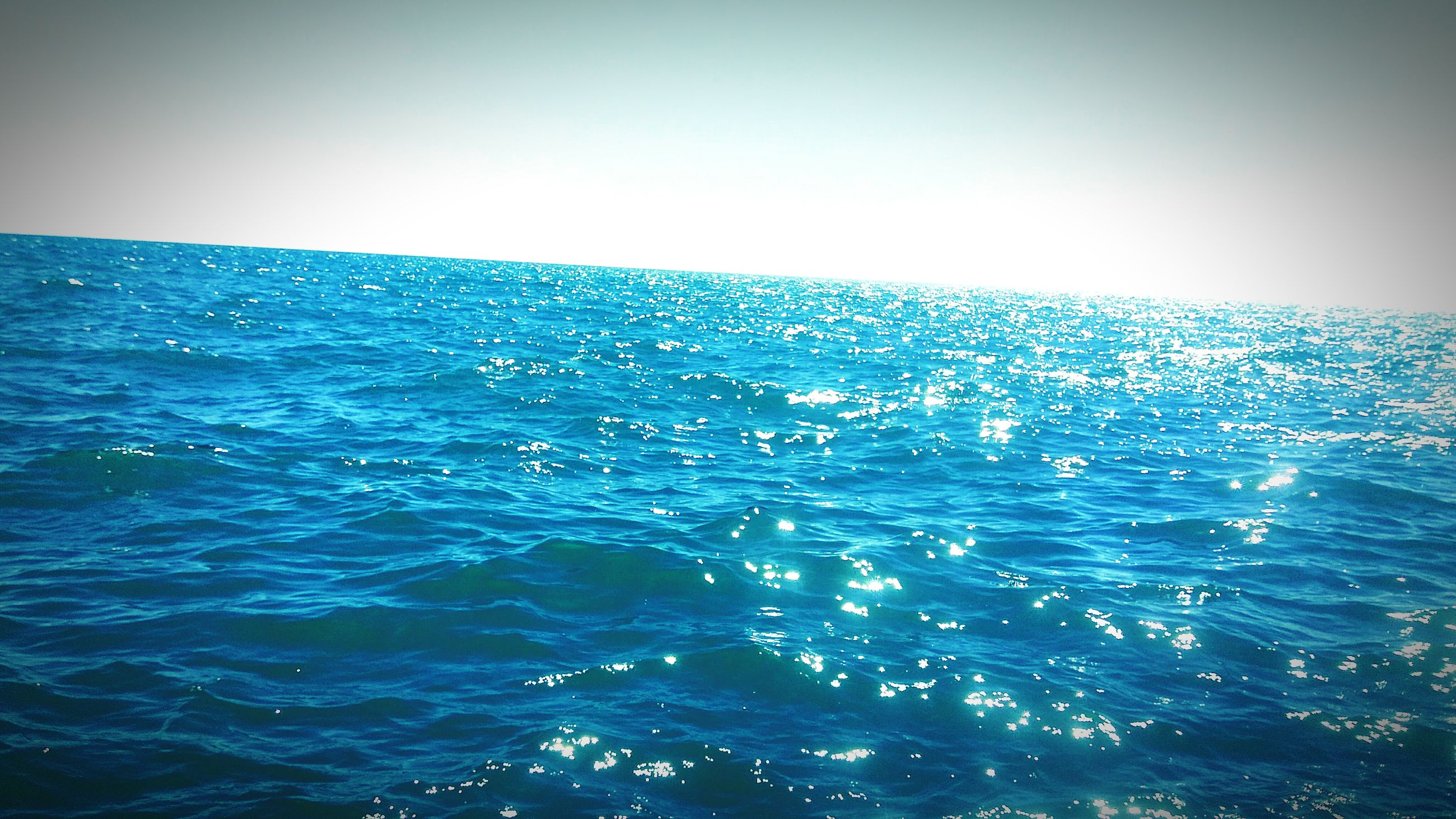 sea, water, horizon over water, blue, clear sky, waterfront, scenics, beauty in nature, rippled, tranquility, nature, tranquil scene, copy space, idyllic, seascape, outdoors, day, turquoise colored, wave, sunlight