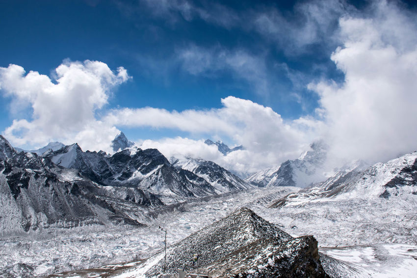 Trekking the Himalayas Connected By Travel Beauty In Nature Cold Temperature Landscape Mountain Mountain Range Nature Snowcapped Mountain Tranquil Scene Tranquility Be. Ready.
